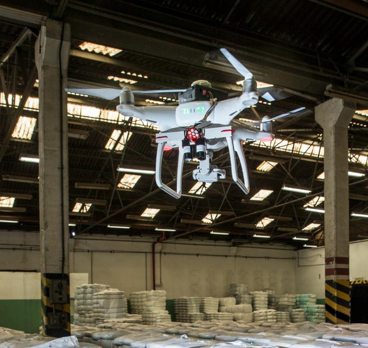 inventário com drone